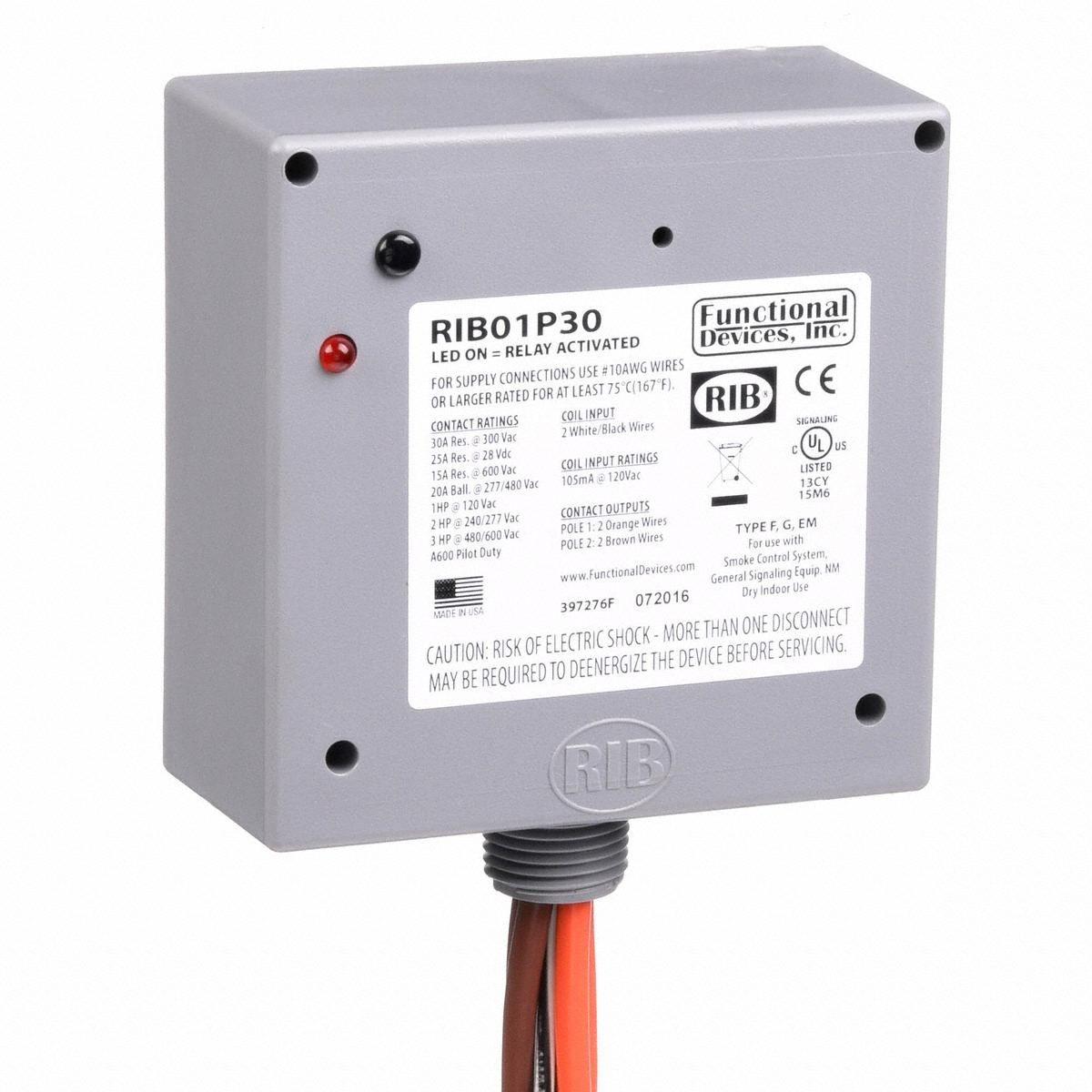 Functional Devices Prewired Enclosed Relay Dpst Pole Throw 120vac Disconnect Wiring Configuration 120v Ac Control Volt 4 In Overall Ht Power Gamut