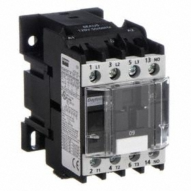 IEC Contactor: 3 Poles, Single/Three Phase, 9 A Current Rating, 240V AC Control Volt, 1/2 hp - Single Phase @ 120V
