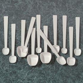 SP Scienceware Lab Scoop: Spoon, 14 3/4 mL Max Capacity, 3 tsp Max Capacity US, Plastic, 5 1/8 in Handle Lg, 12 PK