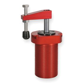 Destaco Air-Powered Toggle Clamp: Vertical, Aluminum, 6 1/2 in Clamping Clearance, Threaded, 5 in Overall Lg, Red