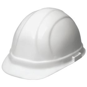 Front Brim Hard Hat: ANSI Impact Type Rating I, White, Ratchet, ANSI Electrical Class Rating E, 6-Point, Reverse Donning