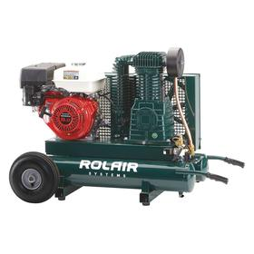 Air Compressor: 9.0 hp Horsepower, Continuous, Splash Lubricated, 18.4 cfm Full Load Air Consumption, 9.0 gal Tank Size