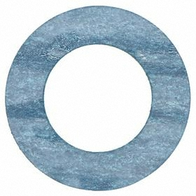 Garlock Sized Pipe Gasket: Synthetic Fiber with Rubber Binder, Blue & White, -40° F Min Op Temp, 400° F Max Op Temp, 1 1/16 in ID