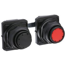 Multi-Head Push Button Switch: 30 mm Panel Cutout Dia, 2 Operators, Non-Illuminated, No Legend, Maintained, Round, Black