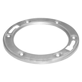 Toilet Flange: Closet Flange, 3 in OD, For Most Toilets, (1) Ring, Silver, Universal Fit, Universal Compatible Mfr Part