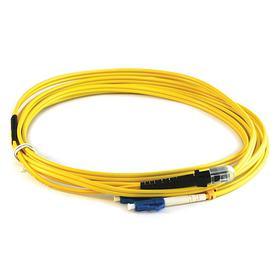 MTRJ Fiber Optic Cable: Single-Mode, Female, LC, Male, 3 m Cable Lg, Duplex, 9 micron Core Size, 10 GB, Yellow