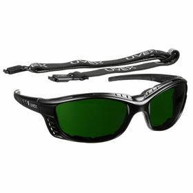 Honeywell Welding Safety Glasses: Full Frame, Shade 5.0, Anti-Fog, Black, ANSI Z87.1-2010/CSA Z94.3