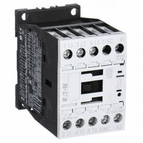 Eaton IEC Magnetic Contactor: 3 Poles, Single/Three Phase, 12 A Current Rating, 120V AC Control Volt, Silver Alloy, Std Body
