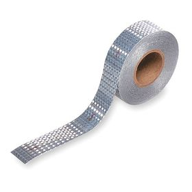 Grote Reflective Tape: Trucks & Trailers, Continuous Roll, 2 in Overall Wd, 150 ft Overall Lg, White Reflective