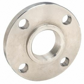 Threaded Stainless Steel Flange: 150 Class, 1 1/4 Pipe Size, 4 5/8 in Flange Outer Dia