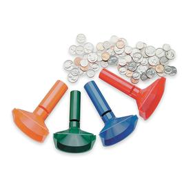 Coin Counting Tube: Coin Counting Tubes, 40 Nickels/40 Quarters/50 Dimes/50 Pennies Hopper Capacity, 3.5 in Dp, 4 PK