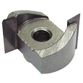 Profile Router Bit: 7/8 in Cutter Dia, Carbide-Tipped, 9/16 in Lg of Cut, 5/8 in Overall Lg, 2 Flutes, 1/4 in Shank Dia
