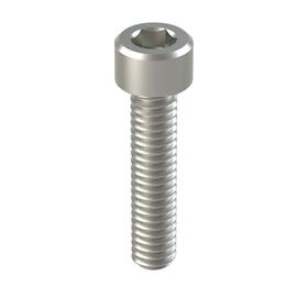 Socket Cap Screw: 316 Stainless Steel, 8-32 Thread Size, 3/4 in Shank Lg, Fully Threaded, 0.27 in Head Dia, 100 PK