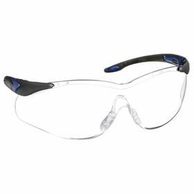 Honeywell Safety Glasses: Clear, Frameless Frame, Anti-Fog/Anti-Static/Scratch Resistant, Black, Plastic, Dielectric