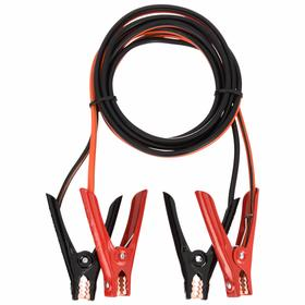 Booster Cable: Clamp Only Termination, Alligator, 200 A Cable Current, 12 ft Cable Lg, 8 AWG Cable Conductor Size, Steel