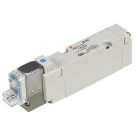 Solenoid Valve: Body Ported Body, Solenoid/Spring, 1 Positions, 1.9 cfm Max Air Flow, 25 msec Response Time, 5 Ports