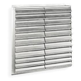 Backdraft Damper: Vertical, G-90 Galvanized Steel Frame, Gravity, Exhaust, Gen Purpose, Rear Flange , 48 in For Fan Dia
