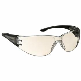 Elvex Safety Glasses: Gray Mirror, Frameless Frame, Scratch Resistant, Gray/Black, ANSI Z87.1-2010 (+)/CE EN-166