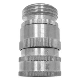 Swivel Hose Adapter: 1/2 in Inlet Connection Size, GHT, Female, Steel, 3/4 in Outlet Connection Size, Male, Silver