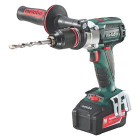 Metabo Cordless Hammer Drill: 18V, 1/2 in Chuck Capacity, 2,050 RPM/600 RPM, 0 to 38,950 bpm Impact Rate, Li-Ion, Ball