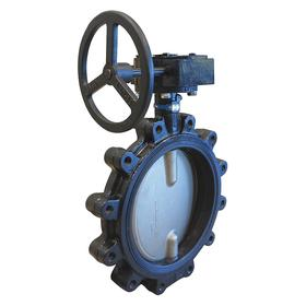 "Butterfly Valve: 7/8""-9 Bolt Thread Size, Cast Iron, Lug, 12 Pipe Size, 22 51/64 in Overall Ht, 28 in Overall Lg"
