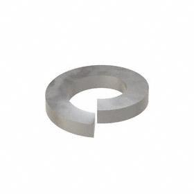 Split Lock Washer: Steel, Plain, For 1/2 in Screw Size, 0.502 in Max ID, 0.869 in Max OD, 0.125 in Thickness, 25 PK