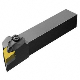 Sandvik Coromant Indexable Turning Toolholder: 1 1/2 in Shank Wd, 1 1/2 in Shank Ht, 6 in Overall Lg, 93° Side Cutting Edge Angle, Left Hand