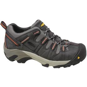 Keen Hiker Style Work Boot: Men, Steel, Leather, Gray, Gen Use, Electrical Hazard Rated, Good Mfr Suggested Sole Slip Rating, Wide Toe Cap, 1 PR