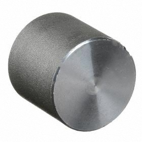 Black Pipe Cap: 3000 Class, NPT, 1 1/2 Pipe Size (Port 1), Steel, 3000 psi Max Op Pressure