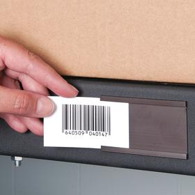 ALH Label Holder: Open Message, C-Channel Label Holder, Side Feed, 3 in Overall Wd, 50 ft Overall Lg, 3 in Overall Ht