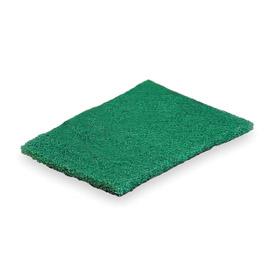 Scrubbing Sponge: Heavy Duty, 9 in Lg, 6 in Wd, 3/8 in Thickness, Green, 15 PK
