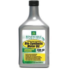 RLI Gasoline Engine Oil: 15W-40 SAE Grade, 1 qt Container Size, Bottle, -30° F Pour Point, 179 Viscosity Index