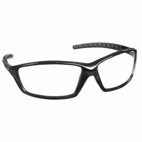 Bolle Safety Glasses: Clear, Full Frame, Anti-Fog/Scratch Resistant, Black, ANSI Z87.1-2010/CSA Z94.3-2007, Nylon