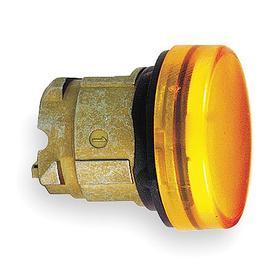 Schneider Electric Pilot Light Head: For Schneider BA9 Light Modules, 1.22 in Overall Lg, Metal, Yellow, Chromium