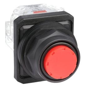 Non-Illuminated Push Button: 10 A @ 600V AC Contact Rating, Extended Operator, 1NO/1NC Pole-Throw Configuration, Momentary, Red