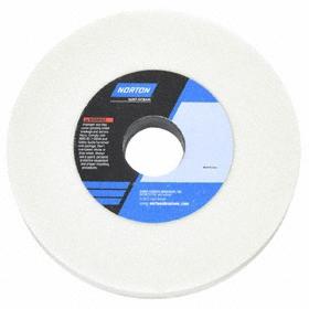 Norton Grinding Wheel for Hardened Steels: Aluminum Oxide, Medium Relative Grit Grade, 6 in Wheel Dia, 3/4 in Wheel Thickness, 5 PK