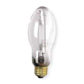 GE Elliptical HID Bulb: Metal Halide, Clear, ED17, E26, 70 W Watt, 5200 lm, 90 Color Rendering Index, 2 1/8 in Bulb Dia