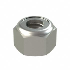 "Nylon Insert Locknut: 18-8 Stainless Steel, 5/16""-18 Thread Size, 33/64 in Wd, 23/64 in Ht, 50 PK"