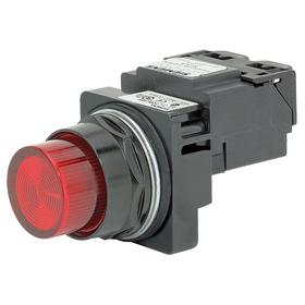 Siemens Pilot Light Complete Unit: 120V AC, Full Volt, Red, For 120 V AC, Includes Bulb, For Incandescent, Epoxy Coated