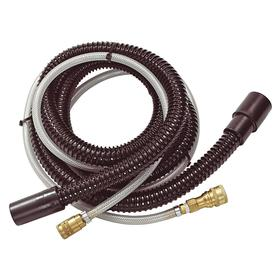 Carpet Extractor Extraction Hose: 2 in Dia, 8 ft Overall Lg, Black, Plastic