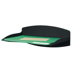 Hanging Letter Tray: 1 Compartments, Plastic, 12 1/2 in Wd, Black, 9 1/4 in Dp, 5 in Ht, 2 lb Max Load Capacity