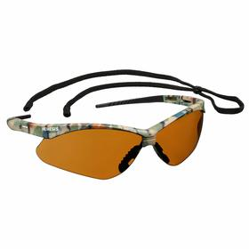 Kimberly-Clark Professional Safety Glasses: Brown, Wraparound Frame, Scratch Resistant, Camouflage, ANSI Z87.1+2010, Nylon