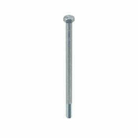 "Steel Hex Cap Screw: Zinc Plated, Grade A Material Grade, 5/8""-11 Thread Size, 11 in Shank Lg, Partially Threaded, 20 PK"