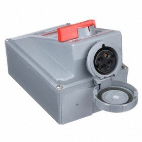 Hubbell Watertight Mechanical Interlock Device: Three Phase, 4 Contacts, 60 Hz Volt Freq, 30 A Current, 480V AC, 3 Poles