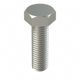 18-8 Stainless Steel Hex Cap Screw: 18-8 Stainless Steel, M12 Thread Size, 1.75 mm Thread Pitch, 40 mm Shank Lg, 25 PK