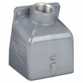 Hubbell Conduit Box: 30 A Amperage, 30 cu in Capacity, Gray, 1 in Compatible Trade Size, Threaded, Die-Cast, Painted