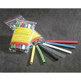 3M Flame-Retardant Heat Shrink Tubing: 2:1 Shrink Ratio, 250° F Shrink Temp, 0.75 in ID Before Shrinking, Black, 5 PK