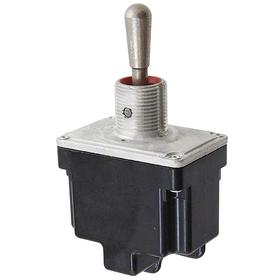 Honeywell Heavy-Duty Toggle Switch: 1/2 in Mounting Hole Dia, 2 Positions, 10 A @ 277V AC Switch Rating (AC), 2 Poles, On-Off, Momentary, Silver
