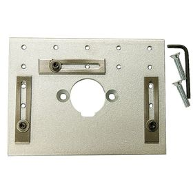 Mounting Base for Lever-Driven Hole Punches: Bench Work Table, For Bench Punches, 3 in Overall Wd, 14 in Overall Lg