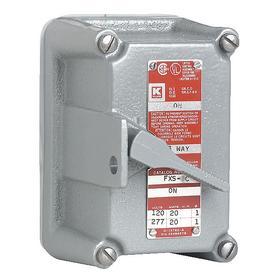 Hubbell Tumbler Switch Assembly Front Cover: Cast Aluminum, On/Off, 3 11/16 in Overall Wd, 6 13/16 in Overall Ht, Lockable